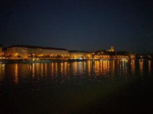Prague riverside view